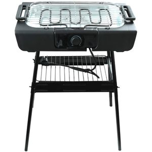 Elekto Tischgrill Standgrill 2in1 Schwarz Camping Grill BBQ 2000W