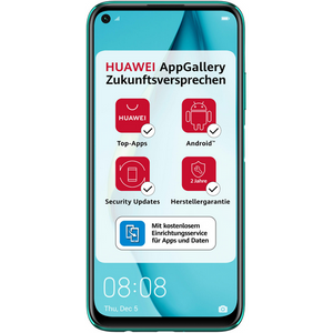 Huawei P40 lite Smartphone 16cm (6,4 Zoll) LCD-Display, 128GB interner Speicher, 6GB RAM, Dual-SIM, Android, Crush Green