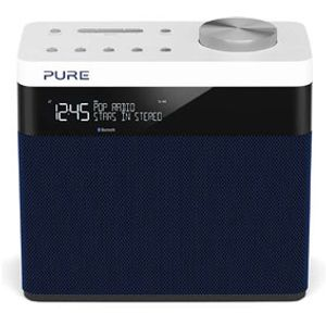 Pure POP Maxi BT Digitalradio (DAB-DAB+ Digital- und UKW-Radio mit Bluetooth, Pop-Taste zur Lautstärkenregelung, Weckfunktionen, Küchen- und Sleep-Timer, 20 Sendespeicherplätze), Blau
