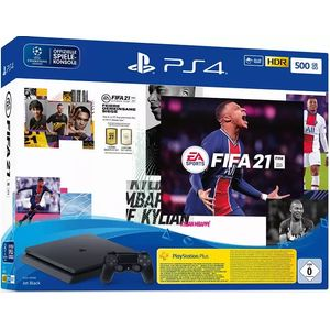 Sony PlayStation 4 Slim Jet Black 500GB Bundle inkl. FIFA 21