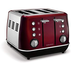 Morphy Richards Evoke 4 Slice Toaster 240108 Red Four Slice Toaster Red Toaster