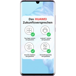 Huawei P30 Pro Smartphone 16,43cm (6,47 Zoll) OLED-Display, 128GB interner Speicher, 8GB RAM, Dual-SIM, Android, Misty Lavender