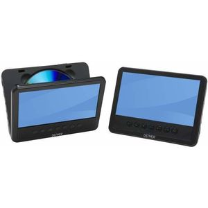 Denver MT-983 portabler DVD-Player (2X 17,8 cm (7 Zoll) Dual Screen)